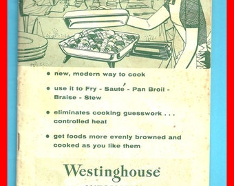 Electric FRY PAN Recipes 1960s Vintage Westinghouse Automatic Booklet Instructions Cookbook