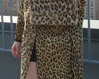 Leopard Coat with Menswear details
