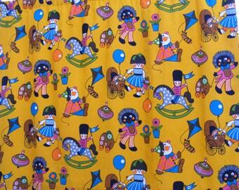 Vintage nursery fabric Playtime by Frieda Clowes mid century textile