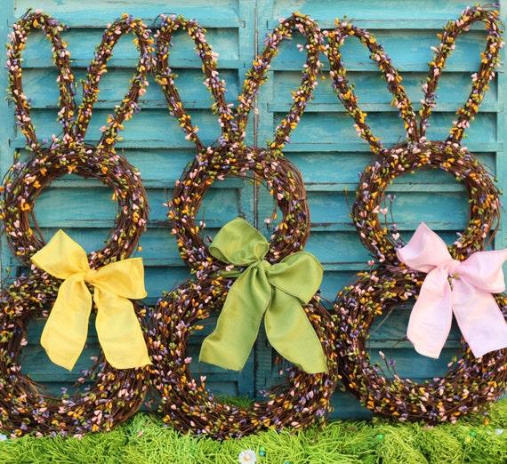 Spring Wreath - Easter Wreath - Bunny Wreath - Pastel Berry Wreath