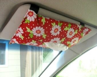 Car Visor Tissue Holder - Daisies - ready to ship
