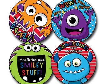 MONSTER FUN Personalized stickers for Teachers