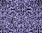 85021-  Michael Miller Midnight  Garden Gate Trellis in Lilac color  -  1/2 yard