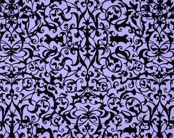 85021-  Michael Miller Midnight  Garden Gate Trellis in Lilac color  -  1/2 yard