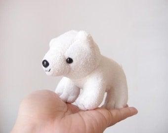 Cute polar bear soft toy