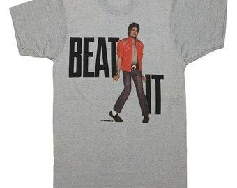 Michael Jackson Shirt Vintage tshirt 1984 Beat It Original King Of Pop tee 1980s The Gloved One