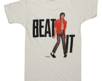 Michael Jackson Shirt Vintage tshirt 1984 Beat It Victory Tour King Of Pop Concert tee Original 1980s