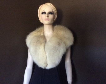 Vintage  Fox Fur Collar, Vintage Fox Shrug, Vintage Fox Wrap,  Vintage Fur  Collar