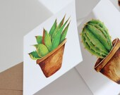 Cactus Greeting Card Big Leaves