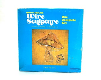 Mushroom Hanging Wire Sculpture Kit by Smith House Unused