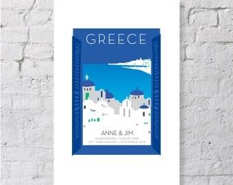 Greece, keepsake / print