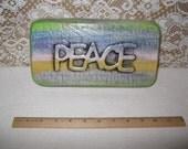Concrete PEACE sign garden art yard decor