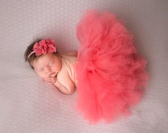 Coral Tutu, Newborn Tutu, Baby Tutu, Newborn Props