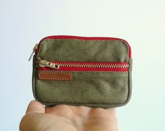 Mens canvas wallet- retro front pocket wallet - coin purse - wallet-Personal accessories-aseismanos-gift for him