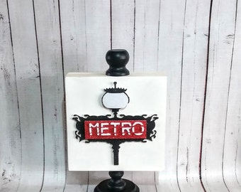 Metro Wooden Sign with stand