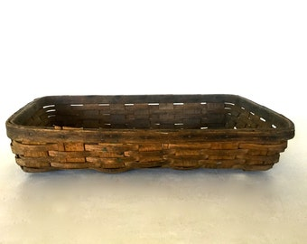 Antique very large industrial basket