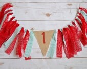 vintage country fair party - high chair banner - 1st birthday photo prop - gingham banner - country party - vintage circus party - 1st prop