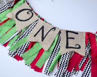 Girl Birthday Banner - Christmas Birthday Party - 1st birthday banner - birthday banner - Christmas 1st Birthday - Birthday banner