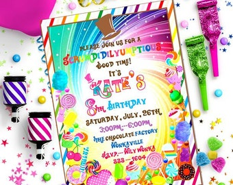 CANDY Party INVITATION - Personalized Printable Download