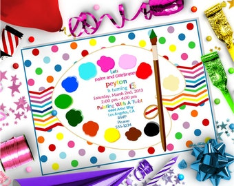 PAINTING PARTY INVITATION ~ Personalized Printable Download