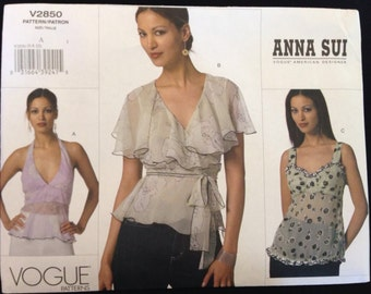 Anna Sui for Vogue V 2850 size A(6-8-10)
