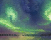 Northern Lights Signed and titled mounted print