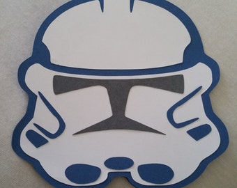 Star Wars Clone Trooper Homemade Card Invitation - Set of 6