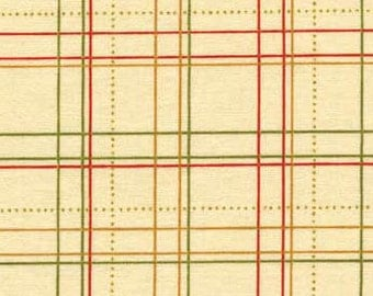 Joyful Harvest - Red Tan Plaid from Red Rooster Fabrics