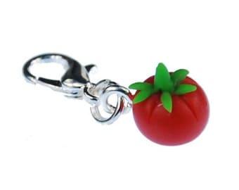 Tomato charm pendant charm bracelet Miniblings charms tomatoes vegetables fruit fruit