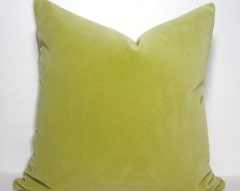 Beautiful Apple Green Velvet Decorative Pillow Cover Plush Green Velvet  Pillow Cover 18x18