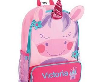 Personalized Backpack  Stephen Joseph Sidekicks Toddler Unicorn