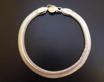 sterling silver bracelet snakechain