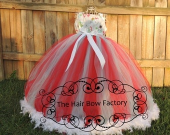 The Hair Bow Factory Snowman Christmas Feather Tutu Dress Size 12-24 Months-12