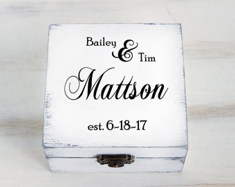 White Ring Bearer Box Wedding Ring Box Personalized Ring Bearer Box Еngagement Ring box Pillow Alternative Wedding Ring Holder Custom Box