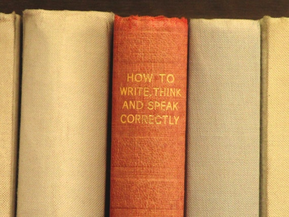VIntage 1930s How to Think book