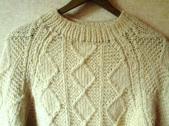 Knitting Patterns Cowl Scarf : fisherman sweater chunky knit Irish Aran oversized sweater