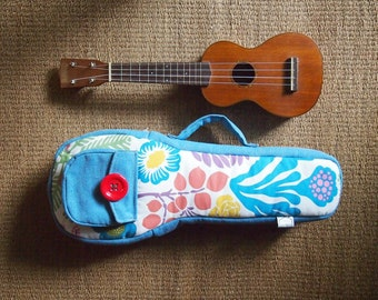 Soprano ukulele case - Happy summer ukulele bag (Ready to ship)