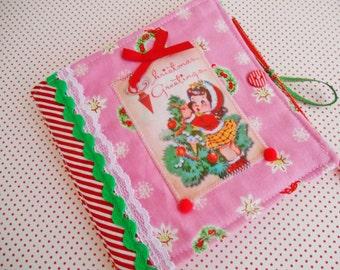 SALE  Retro Inspired Christmas Needlebook
