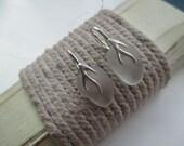 Sea Glass Sterling Silver Earrings