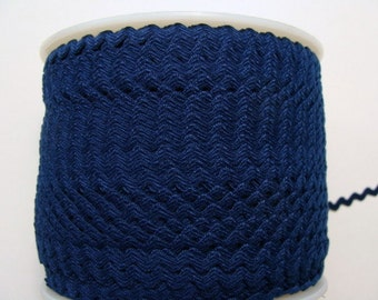 "7/32"" Rick Rack - Polyester - Navy Blue"