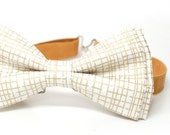 Special Bow Tie - Gold Metallic Patterned Bow Tie for Boys, Toddlers, Baby - pre tied bowtie, wedding, ring bearer, photo prop, holiday