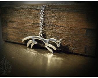White Horse of Uffington silver pendant