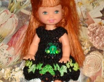Handmade Crochet Dress For Kelly Barbie number  1046