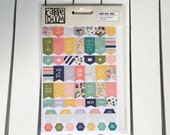 Carpe Diem Posh Planner Basics Stickers (8- 4X6 sheets) by Simple Stories, Snap product for A5 or mini planners, for scrapbooking, cards