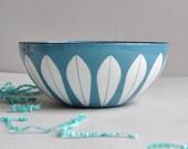 "Cathrineholm Lotus Bowl - Turquoise - 5 1/2"""