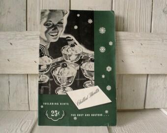 Vintage cookbook Chilled Thrills refrigerator recipes hostess hints retro photos illustrations 1940s