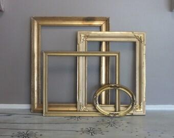 Beautiful Collection of Antique Gold Frames Antique Frames Hollywood Regency Frames Vintage Picture Frames Gold Picture Frames