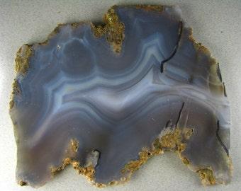 Blues n Grays Large Luna Blue Agate Slab RS0317