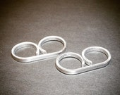 ON SALE Silver Double Ring - Silver Two Finger Ring - Adjustable - Great for Sensitive Skin - Double Finger Ring - Dual Ring