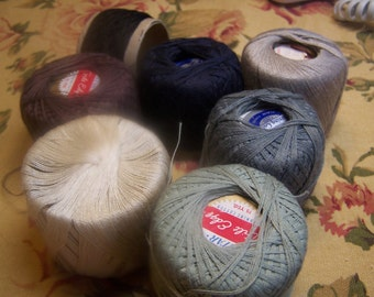 Nice Vintage Collection of Darning or Mending Cotton Thread Lot of 7